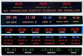 Time Zone Clocks from LED Ticker Led Signs